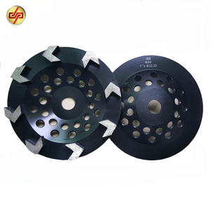 Soft Bond 7 Inch Arrow Shape Diamond Grinding Wheel for Concrete Floor