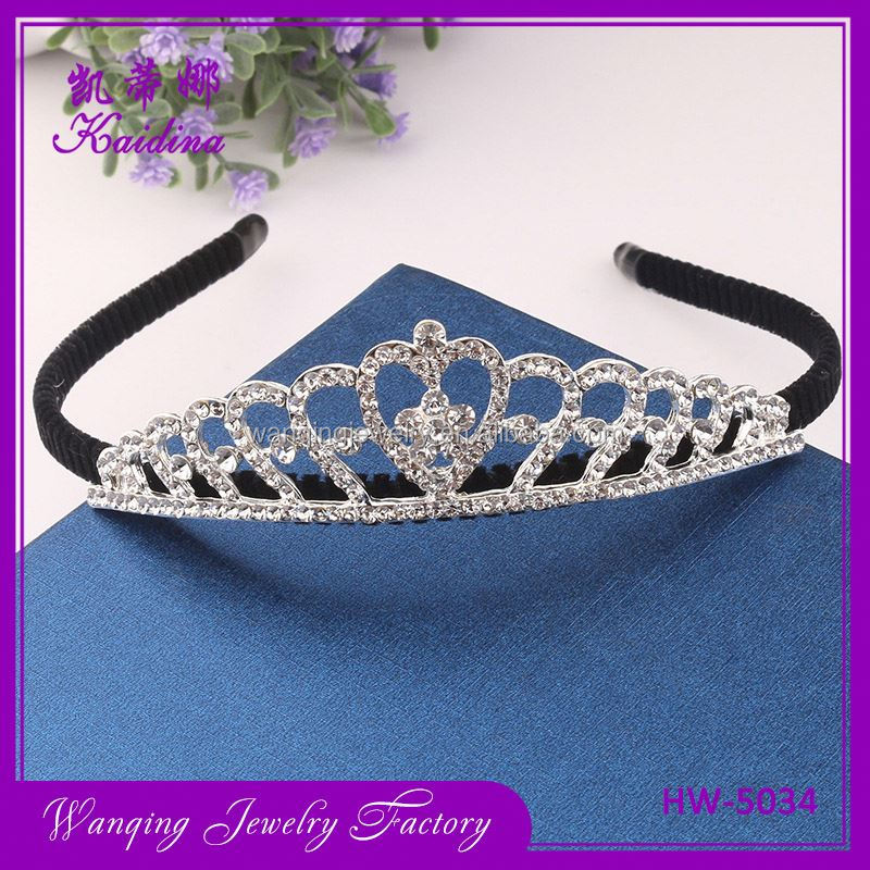 Best prices decorative beads metal crown girls childrens headbands