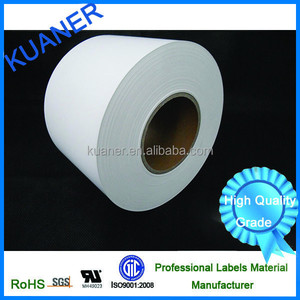 Chemical drum label with 50mic matte white PET film
