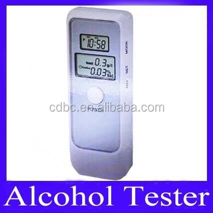 breath alcohol tester breathalyzer with LCD clock