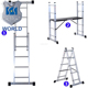 Multi functional aluminum scaffolding platform ladder moveable steel movable step