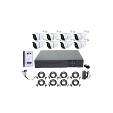 HD 5MP 5 In 1 Digital Video Recorder dengan 8 Pcs 5mp IR Peluru Tahan Air Kolam Kamera <span class=keywords><strong>CCTV</strong></span> <span class=keywords><strong>Sistem</strong></span> 8CH XVR AHD DVR Kit dengan HDD