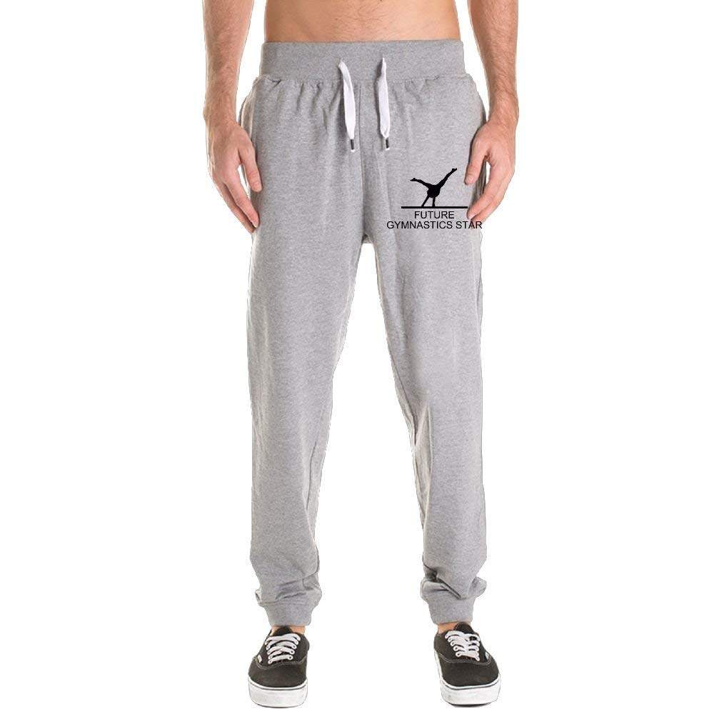 271ec8957d6dad Get Quotations · CBC4E Pant Gymnastics Star Men s Joggers Pants Slim Fit  Running Trousers With Pockets