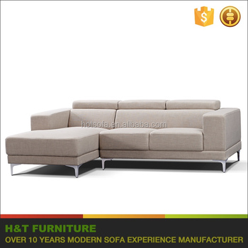 Modern Leather Black Sofa L Shaped In Furniture