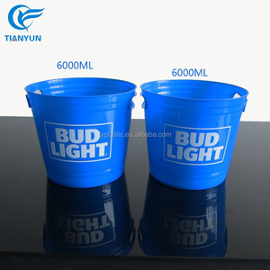 2018 Promotional 7L Plastic Beer Bottle Cooler Buckets for Sale