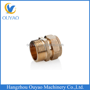 pex pipe fittings Brass screw fittings for plastic pipe