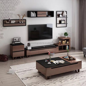 Modern compact laminate TV cabinet
