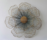 Customized Home Wall Flower Decoration DIY 3D Creative Metal Wall Art Decor
