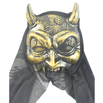 Wholesale Horror PVC Halloween dance party Masquerade props ox horn half face Mask