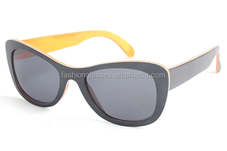 black wood sunglasses with many wood layers new skill new arrival products
