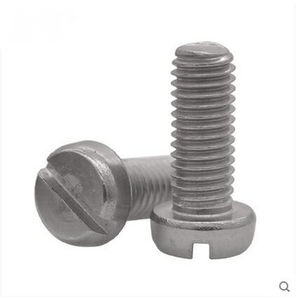 SUS304 316 DIN84 slotted cheese round head machine screw