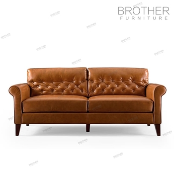 Brilliant Antique Style Classic Wood Frame Brown Genuine Leather Chesterfield Sofa Buy Classic Wood Frame Leather Sofa Chesterfield Sofa Genuine Leather Cheap Pabps2019 Chair Design Images Pabps2019Com