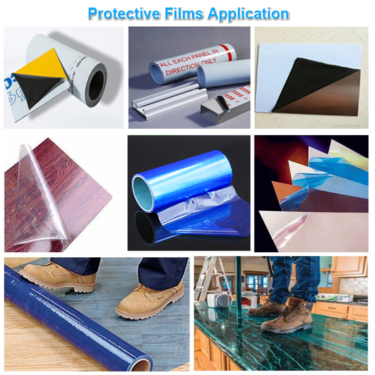 Antiscratch High Transparency Removable Protection Film for Metal Surface