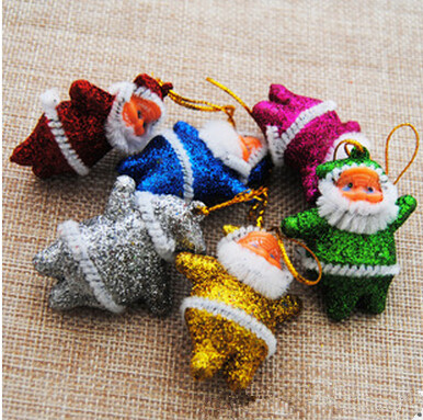 Christmas Santa Claus Ornaments Festival Party Xmas Tree Hanging Decoration