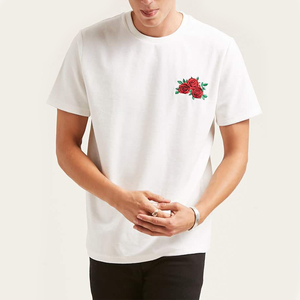 Customise good cotton embroidered short sleeve t shirts