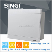 Surface Plactical Distribution Box With Neon and indicator strip knockout junction box