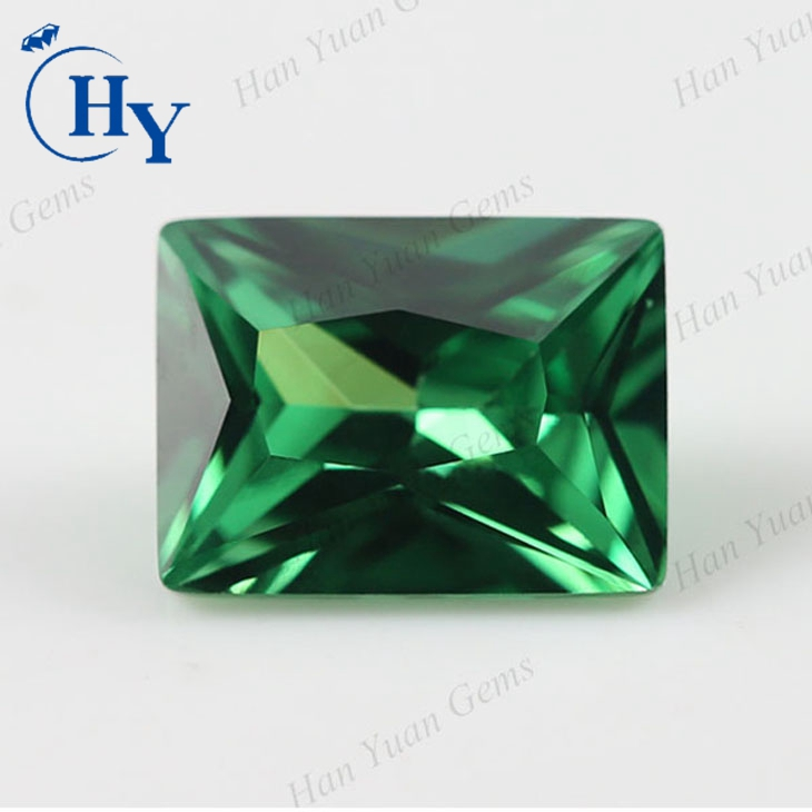 china supplier Rectangle princess cut cubic zirconia emerald cz gemstones