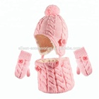 Oeko-tex BSCI WRAP ALDI audit kids baby girls cable knit earflap hat loop scarf gloves mittens set