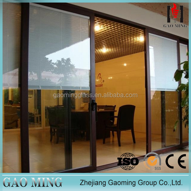 GM House Used Modern Decorative Glass Sliding Door Kitchen Cabinet