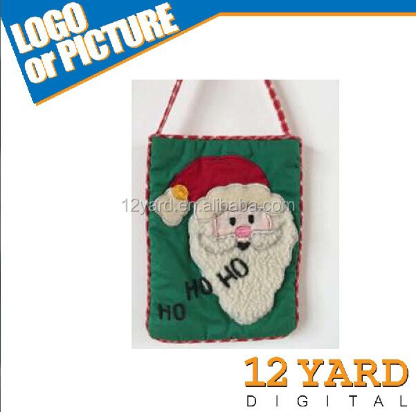 Cute Handmade Decorative Christmas biodegradable plastic food carring/carry bags