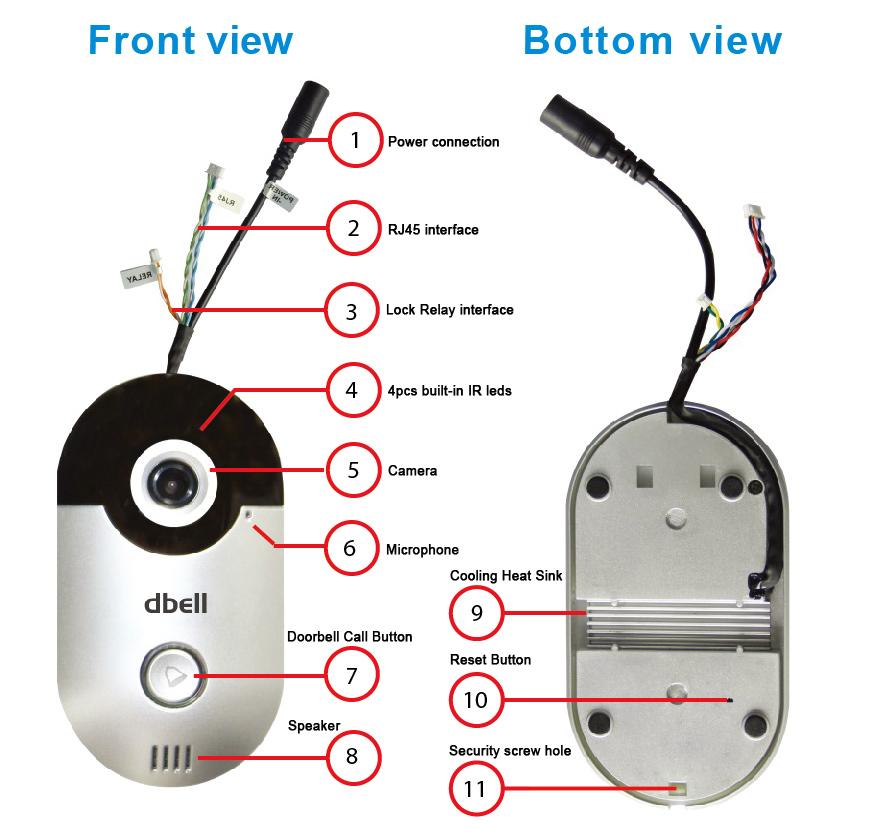 einfache installation video t rklingel mit kamera unterst tzung p2p zwei wege sprechen kann. Black Bedroom Furniture Sets. Home Design Ideas