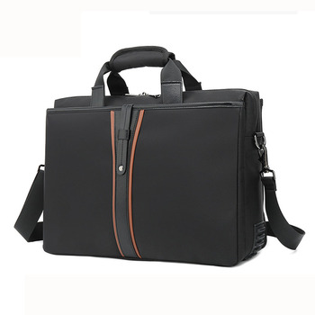 Giftmar waterproof business document bag for 15 inch shoulder carry men's laptop bag black briefcase hand bag ready to ship