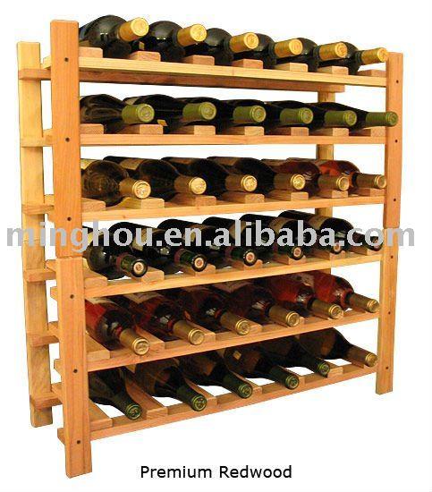 Estantes para vinos elegant estanteria de madera vino - Estanterias para vino ...