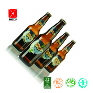 Glossy bottle sticker transparent beer labels