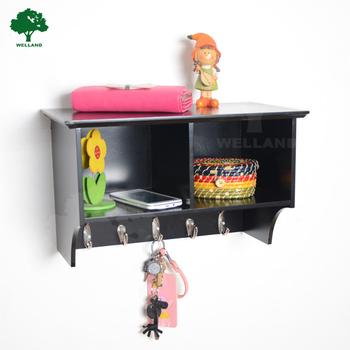 Pott Entryway Wall Mounted Wood Cubbie Shelf With Coat Hooks J Buy