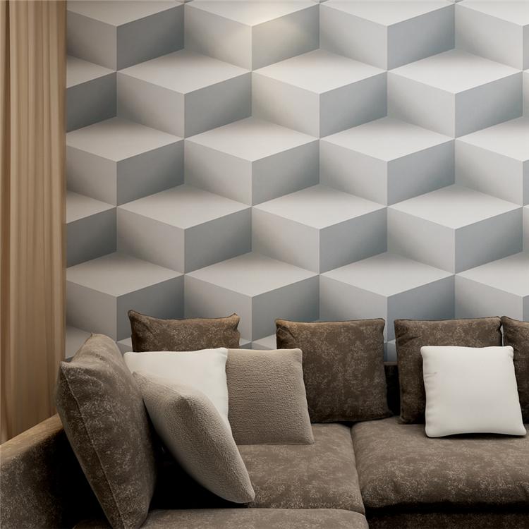en relief blanc moderne pvc lavable 3d papier peint pour. Black Bedroom Furniture Sets. Home Design Ideas