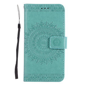 Embossing Flower Wallet Stand Flip Leather Phone Case for iPhone X , Folio Wallet Case for iPhone 8 Plus