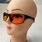 block 100% green and blue light aluminium oversize sports covered red, orange lens computer gaming anti blue light glasses