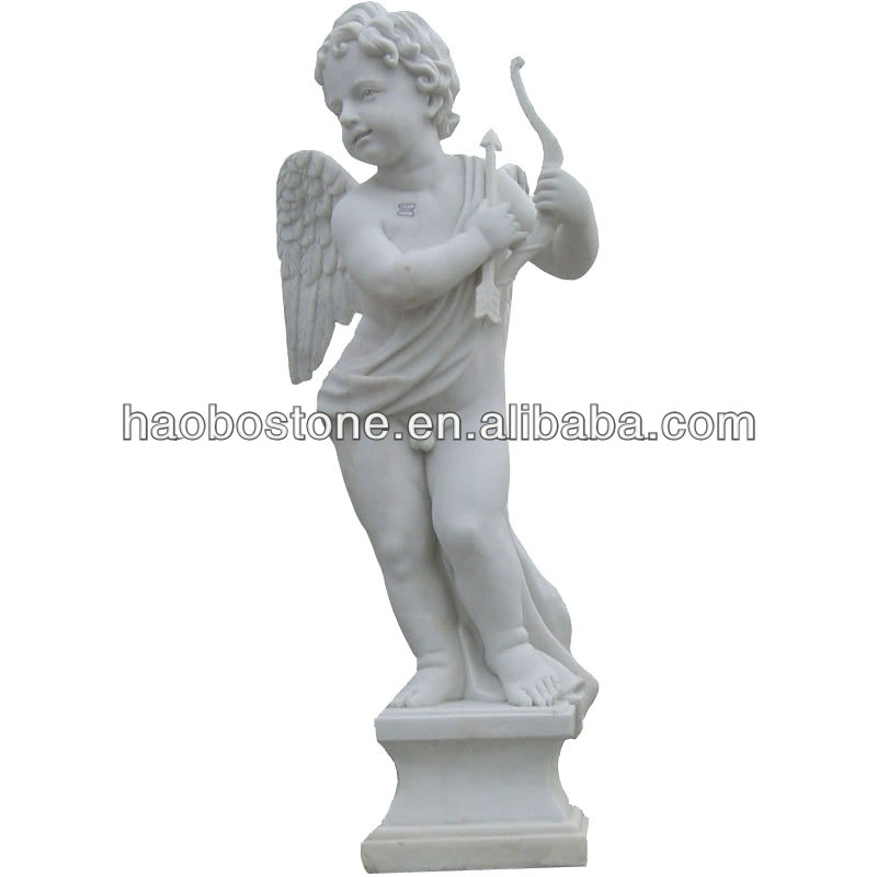 Natural White Marble Angel Garden Statue