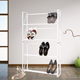 White save space metal cheap shoe coat rack HOME S01