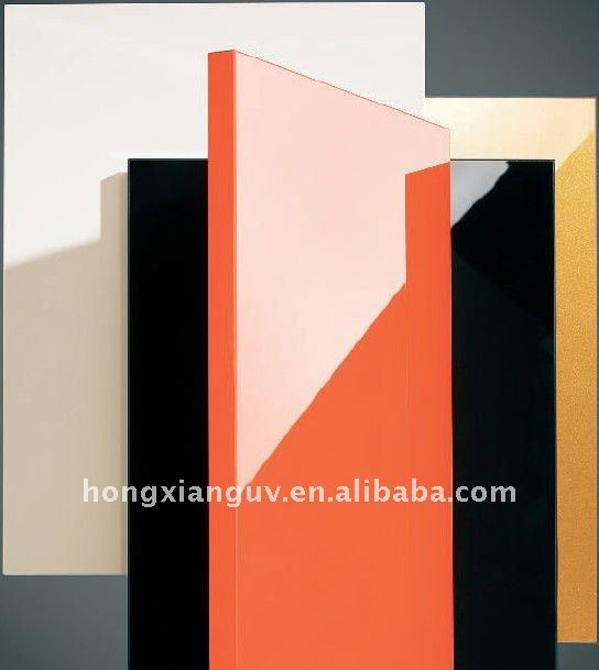 High gloss mdf lambril painel