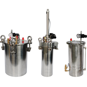manual and auto mixing pressure tanks/barrels for glue dispensing