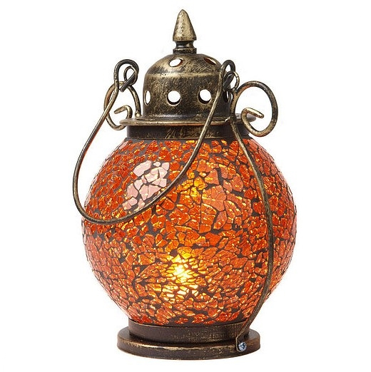 De alta calidad de forma casa decoración zanahoria color DE de mosaico de vidrio hecho a mano vela mancave