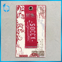 Fabric cloth hang tag for international brand garments