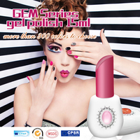 2016 New Arrival Factory Supply! High Quality Gem Series One Step Nail Gel Polish, 3 in 1 gel polish