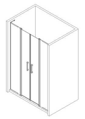 Euorpean 2 pivot hinge door shower enclosure shower room without tray
