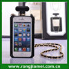 Luxury Black/Clear Perfume Bottle TPU Mobile Cell Phone Case For Iphone/Sunsumg