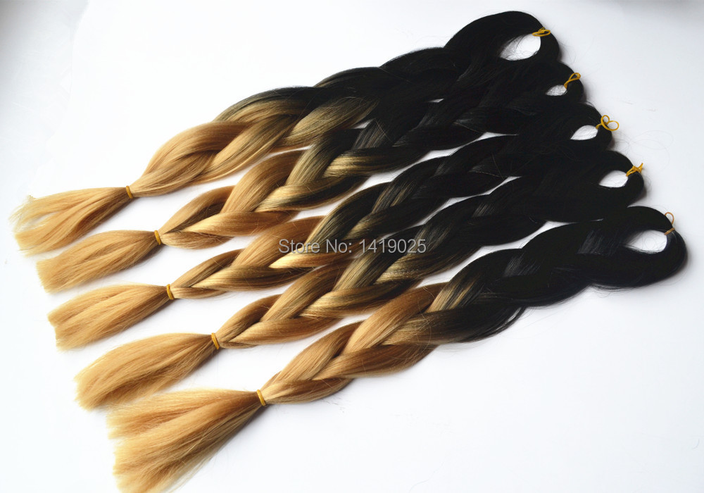 Buy Free Shipping 24inches Ombre Two Toned Color Blackampdark