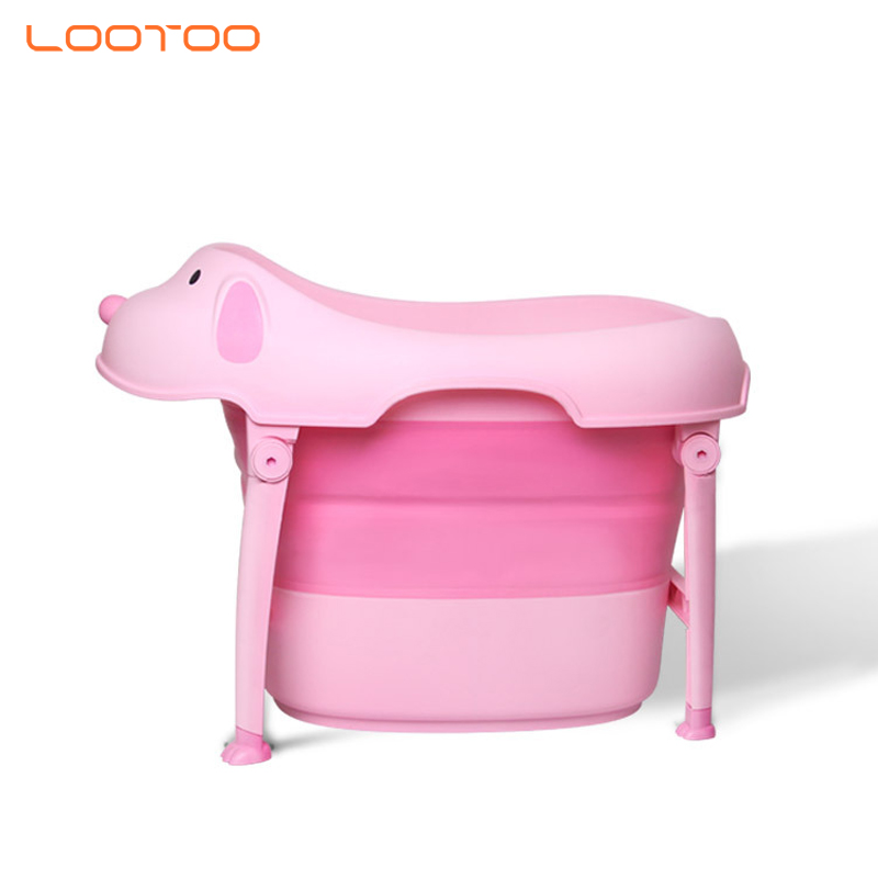 newborn thermometer eco-friendly silicone foldable portable baby seat stand bath tub for kids toddler