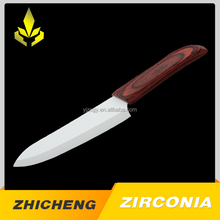 Colour wooden handle ceramic slicing knife for kitchen