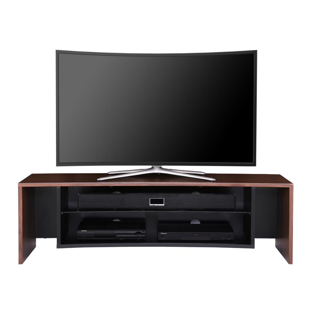 fenge wooden grain cured tv stand media entertainment center for 32 65 inch oled television. Black Bedroom Furniture Sets. Home Design Ideas