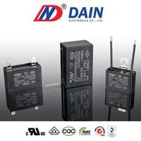 Plastic square type capacitor motor 3uf cbb61 capacitor 450vac 1.5uf capacitor cbb61 450vac of the fan as to test