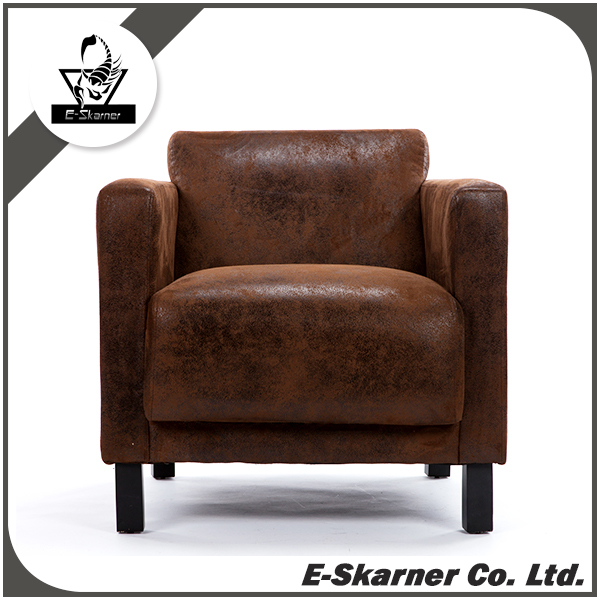 E-Skarner chamois leather Chinese secret ancient design sofa