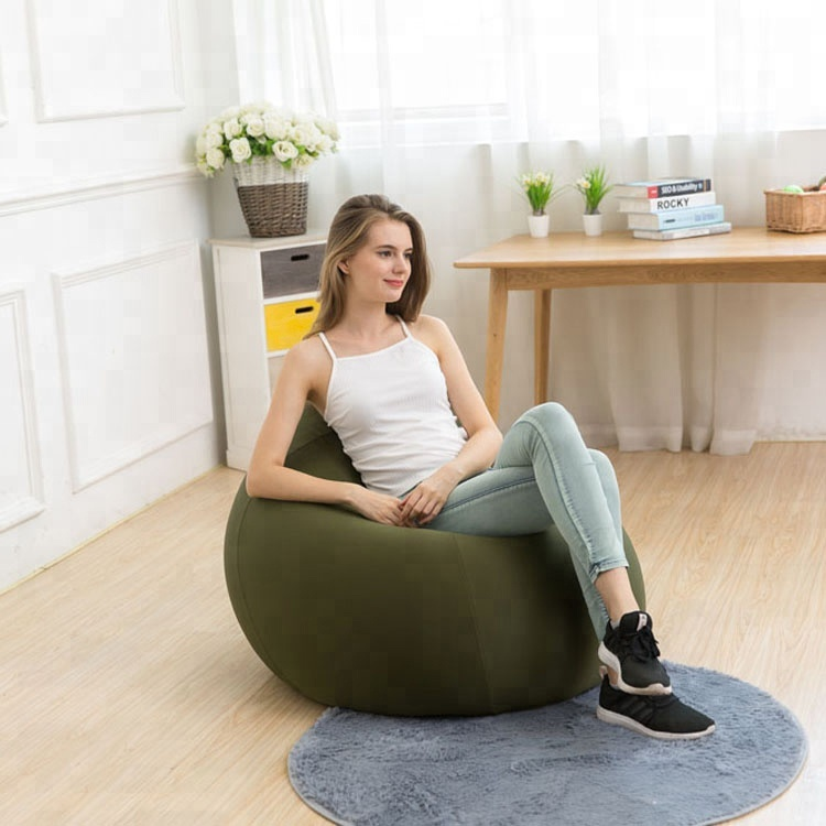Hot Ing Home Furniture Living Room Lounger Sofa Spandex Fabric Bean Bag Soft Chair Large Beanbag Chairs Lounge