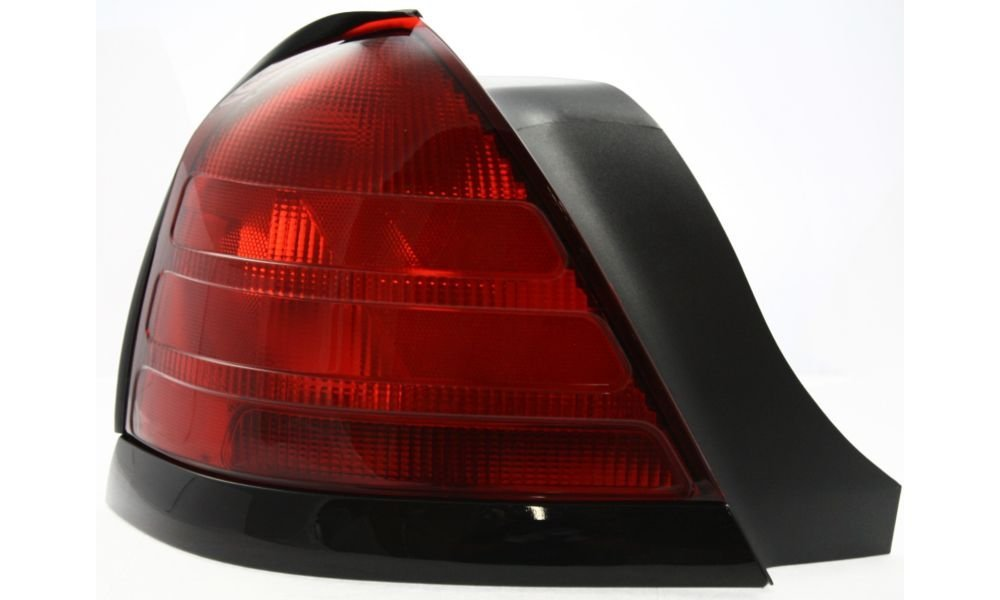 Evan-Fischer EVA15672012680 Tail Light for Ford Crown Victoria 00-11 LH Lens and Housing Dual Bulb Type W/ Black Molding Left Side Replaces Partslink# FO2800160