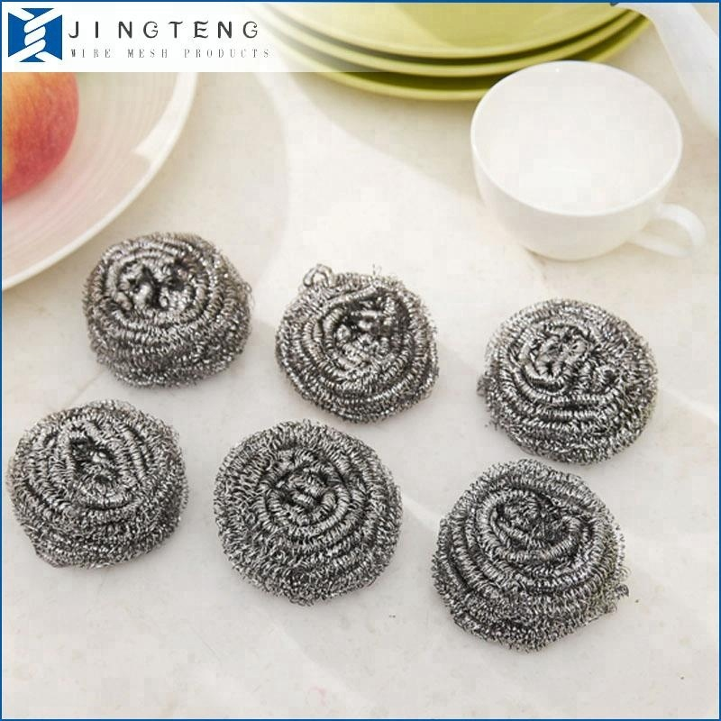 Anping Manufacturer high quality kitchen cleaning stainless steel scourer/sponge/cleaning ball